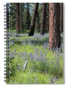 Lovely Lupine In The Mountains Spiral Notebook
