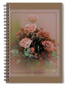 Lovely Rustic Rose Bouquet Spiral Notebook