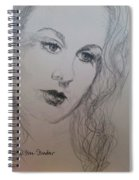 Lovely Vivien Spiral Notebook