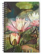 Lovely Waterlilies 7 Spiral Notebook