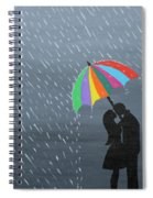 Lovers In The Rain Spiral Notebook