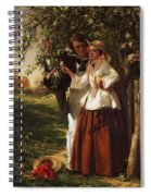 Lovers Under A Blossom Tree Spiral Notebook