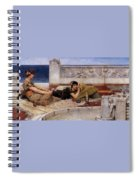 Loves Votaries Lawrence Alma-tadema Spiral Notebook