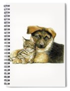 Loving Cat And Dog Spiral Notebook