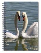 Loving Swans Spiral Notebook