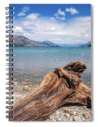 Low Angle View From The Rocky Dart River Bank At Kinloch, Nz Spiral Notebook