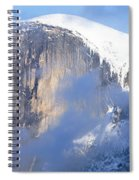 Low Angle View Of A Mountain Covered Spiral Notebook