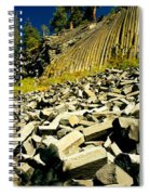 Low Angle View Of Devils Post Pile Spiral Notebook
