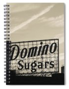 Low Angle View Of Domino Sugar Sign Spiral Notebook