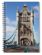 Low Angle View Of Tower Bridge, London Spiral Notebook