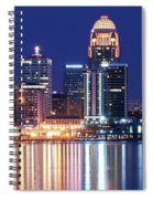 Low Moon Over Louisville Spiral Notebook