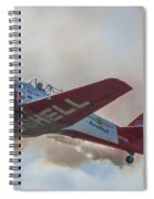 Low Pass Stunt Plane Spiral Notebook