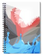 Low Poly Shark Spiral Notebook