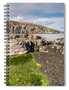 Low Tide At Cullernose Point Spiral Notebook