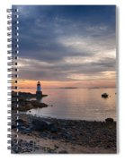 Low Tide At Salem's Lighthouse Spiral Notebook