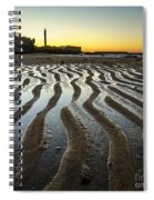 Low Tide On La Caleta Cadiz Spain Spiral Notebook