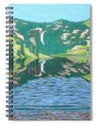 Lower Cataract Lake And Cataract Creek Falls Spiral Notebook