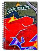 Lower East Side Graffiti  Art  Spiral Notebook