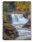 Lower Falls In Autumn Spiral Notebook