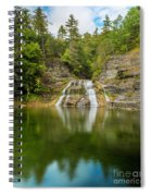 Lower Falls Of Enfield Glen Early Autumn Spiral Notebook