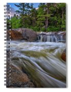 Lower Falls Of The Swift River Spiral Notebook