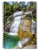 Lower Falls Profile At Enfield Glen Spiral Notebook