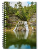 Lower Falls Reflection Of Enfield Glen Spiral Notebook