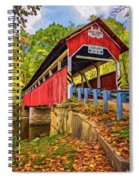Lower Humbert Covered Bridge 2 - Paint Spiral Notebook