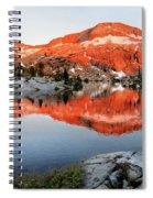 Lower Ottoway Lake Sunset - Yosemite Spiral Notebook