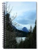 Lower Two Med Lake Through The Trees Spiral Notebook
