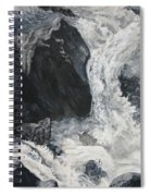 Lower Vernal Black And White  Spiral Notebook