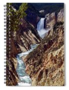 Lower Yellowstone Falls And River Spiral Notebook