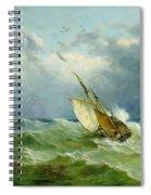 Lowestoft Trawler In Rough Weather Spiral Notebook
