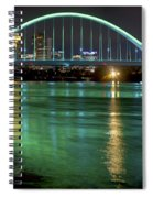 Lowry Bridge In St. Patrick's Day Green Spiral Notebook