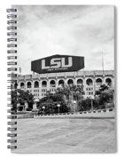 Lsu Tiger Stadium -bw Spiral Notebook
