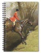 Lt Col Ted Lyon Jumping A Hedge Spiral Notebook