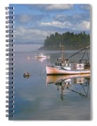 Lubec Waterfront Spiral Notebook