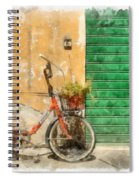 Lucca Italy Bike Watercolor Spiral Notebook