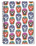 Lucha Libre Masks Spiral Notebook