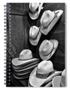 Luckenbach Hats Black And White Spiral Notebook
