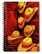 Luckenbach Hats Hdr Spiral Notebook