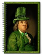 Lucky Ben Franklin In Green Spiral Notebook