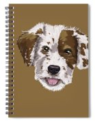 Lucky Brown Mixed Breed Spiral Notebook