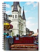 Lucky Dogs And St. Louis Cathedral Spiral Notebook