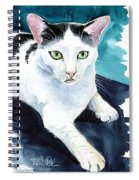 Lucky Elvis - Cat Portrait Spiral Notebook