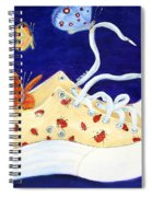 Lucky Lady Bug Shoe Spiral Notebook