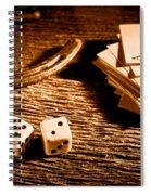 Lucky - Sepia Spiral Notebook