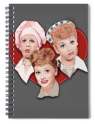 Lucy Expressions Gry Spiral Notebook