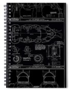 Lucy The Elephant Building Patent Blueprint 3 Spiral Notebook