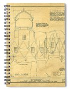 Lucy The Elephant Building Patent Blueprint  Spiral Notebook